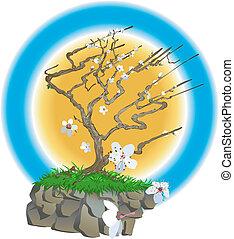 Japanische Baum-Illustration