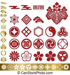 Japanische traditionelle Elemente