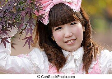 Japanisches Cosplay-Mädchen