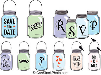 Jar-Designs, Vektor-Set