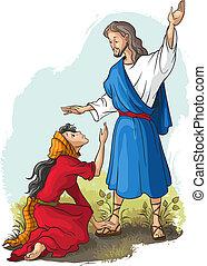 Jesus zu Maria von Magdalena