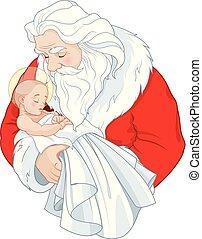 jesuskind, santa