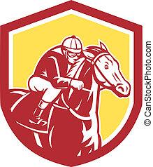 Jockey Pferderennschild Retro.