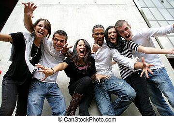 Jugendgruppe für Foto