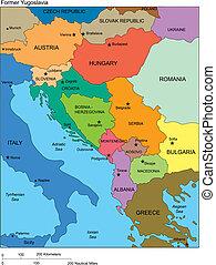 jugoslawien, länder, ehemalig, namen