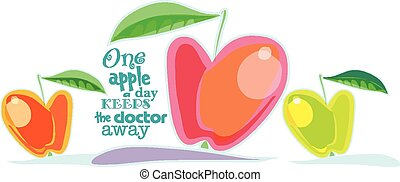 Juicy Red Apfel