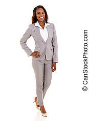 Junge afroamerikanische Geschäftsfrau.