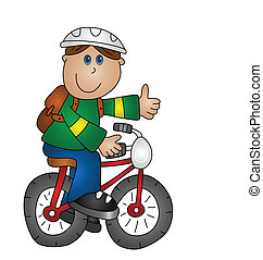 Junge auf einem Fahrrad