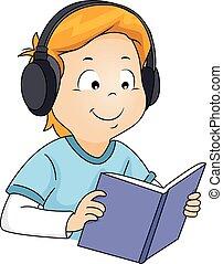 Junge Buch-Audiobuch.