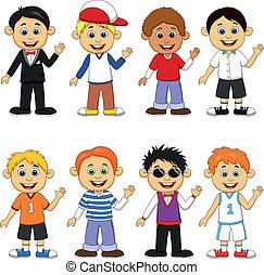 Junge Cartoon-Sammlung