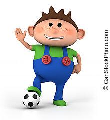 junge, fußball ball
