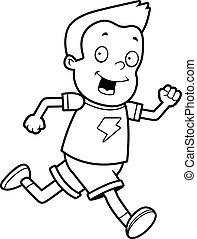 Junge läuft.