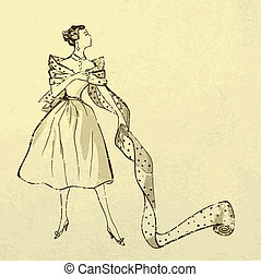Junge, modische Frau mit einem Schraubenzieher