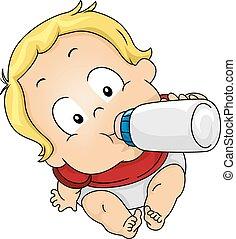junge, trinken milch