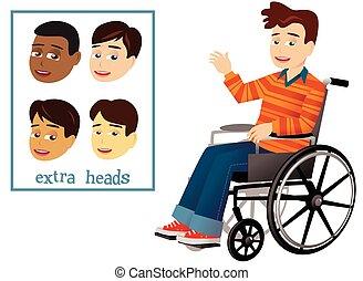 Junge und Rollstuhl