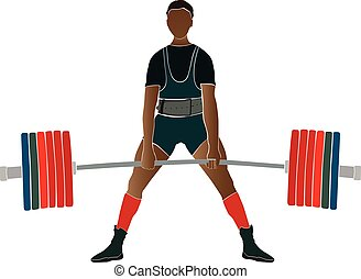 Junger Athleten-Powerlifter.