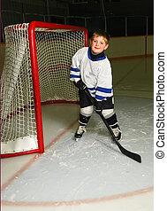 Junger Hockeyspieler.