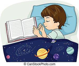 Junges Buch schlafen.