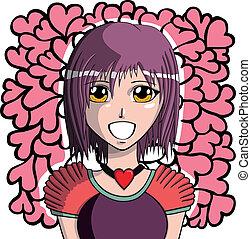 Junges Manga-Mädchen.