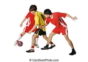 Jungs mit Fußball, Footballer