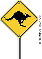 Känguru-Schild.
