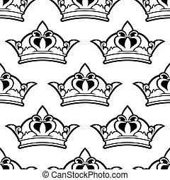 Königliche Krone nahtlos.