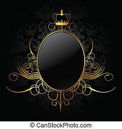 Königlicher Hintergrund mit goldenem Rahmen. Vector