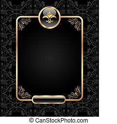 Königlicher Hintergrund mit goldenem Rahmen