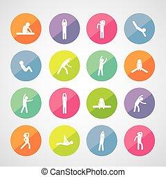 Körperübungs-Ikone.