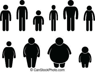 Körpergröße Icon