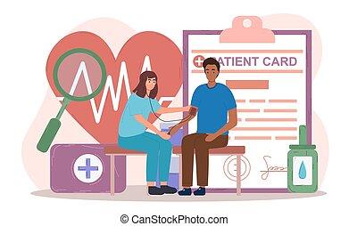 körperliche prüfung, weibliche , patient, doktor