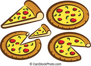 Köstliche Pizza.