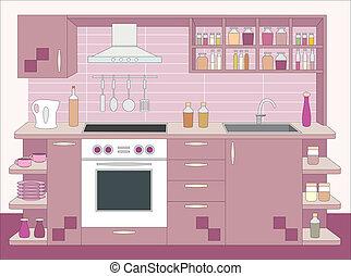 Küchenmöbel. Innen