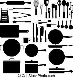 Küchenutensil Silhouette