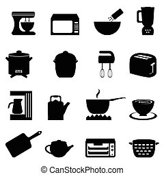 Küchenutensilien und Gegenstände.
