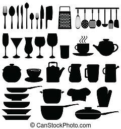 Küchenutensilien und Gegenstände