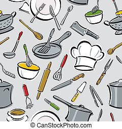 Küchenwerkzeugmuster