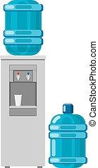 kühltank, voll, flasche