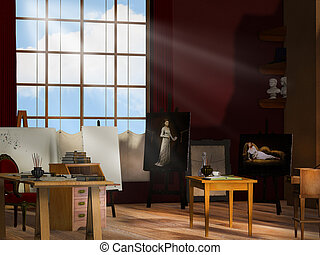 Künstler-Studio