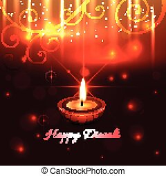 Künstlerisches Design von Diwali Diya.