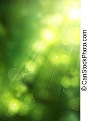 Künstliche abstrakte Natur im Hintergrund ist grün