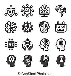 Künstliche Intelligenz Ikone.