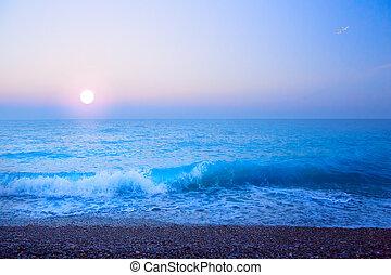 Künstliche schöne helle Meeressommergeschichte abschaffen