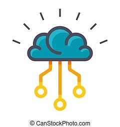 Künstliches Intelligenz-Vektor-Icon.