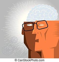Künstliches Intelligenzkonzept.