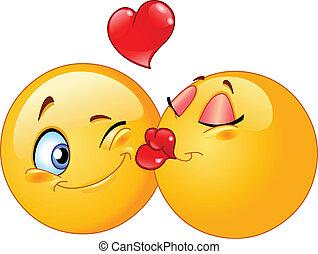 küssende , emoticons