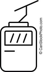 Kabel-Auto-Icon, Umriss-Stil