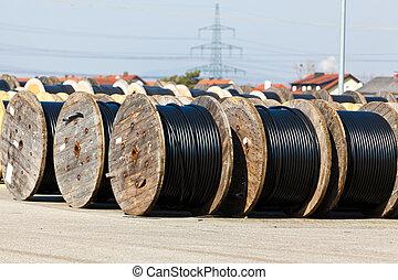Kabel einer Stromleitung