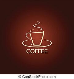 Kaffeebecher-Entwicklungs-Icon-Hintergrund