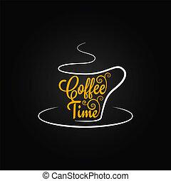 Kaffeetasse Zeichen Design Hintergrund.